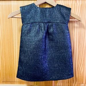 Baby Gap blue shimmer shiny holiday party dress